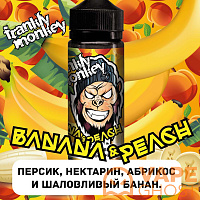 Жидкость Frankly Monkey Low Cost Banana Peach 120 мл